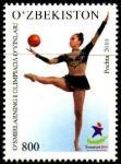 Узбекистан 2010 год. Олимпийские игры юниоров в Сингапуре. 1 марка (н