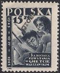 Польша 1950 год. Восстание в Варшавском гетто. 1 марка