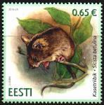 Эстония 2016 год. Мышовка лесная (северная). 1 марка (EE0640)
