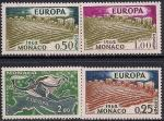 Монако 1962 год. ЕВРОПА. Символическое поле и летящий Меркурий. 4 марки