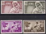 ИФНИ (Марокко) 1953 год. Народные музыкальные инструменты. 4 марки