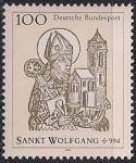 ФРГ 1994 год. 1000 лет смерти святого Вольфганга. 1 марка