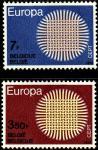 Бельгия 1970 год. Европа. 2 марки