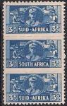 Южная Африка (ЮАР) 1941 год. Женщины на войне. 3 марки с наклейкой