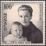Монако 1958 год. Рождение наследного принца Альберта. 1 марка