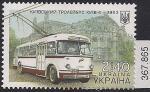 """Украина 2015 год. Киевский троллейбус """"Киев - 4"""". 1 марка"""