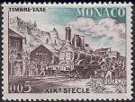 Монако 1960 год. Почтовый паровоз 19-го века (61). 1 марка из серии