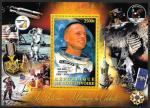 "Кот дИвуар 2012 год. Астронавт НАСА Нейл Армстронг и ""Апполон-11"". Блок"