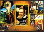 Кот дИвуар 2012 год. Астроном Галилео Галилей, Папа Римский Павел V. Телескоп. Блок