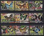 Кот дИвуар 2011 год. Бабочки. 9 марок