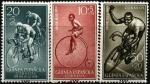 Экваториальная Гвинея (Испания) 1959 год. День почтовой марки. Велоспорт. 3 марки (н