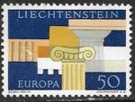 Лихтенштейн 1963 год. Европа СЕПТ. Греческие столбы, 1 марка