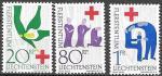 Лихтенштейн 1963 год. 100 лет Красному Кресту, 3 марки