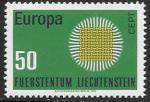 Лихтенштейн 1970 год. Европа СЕПТ, 1 марка