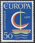 Лихтенштейн 1966 год. Европа СЕПТ, 1 марка
