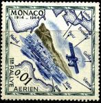 Монако 1964 год. Карта перелета 1914 года. Гидросамолет. 1 марка из серии (ном. 0,01)