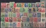 Набор почтовых марок. Литва 1930-е годы. 53 гашеные марки