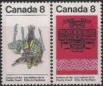 Канада 1974 год. Изделия ручной работы индейцев побережья Тихого океана. 2 марки