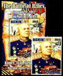 Бенин 2013 год. Маршал СССР И. Конев (1). Блок + 1 марка