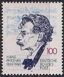 ФРГ 1994 год. 125 лет со дня рождения композитора Ганса Пфицнера. 1 марка