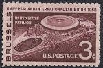 США 1958 год. Международная выставка в Брюсселе. 1 марка