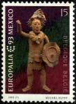 """Бельгия 1993 год. Европейский культурный фестиваль """"Мексика-93"""" в Брюсселе. 1 марка"""