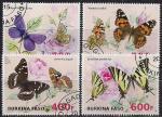 Буркина-Фасо 2015 год. Бабочки (1). 4 гашеные марки