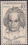 ЧССР 1970 год. ЮНЕСКО. 200 лет со дня рождения Людвига ван Бетховена (40). 1 марка из серии