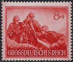Германия. Рейх 1944 год. Минометчики (ном. 8+4). 1 марка из серии.