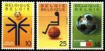 Бельгия 1990 год. Спорт. Футбол. 3 марки