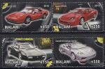 """Малави 2012 год. Модели """"Феррари"""" II. 4 марки"""
