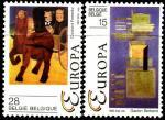 Бельгия 1993 год. Европа. Современное искусство. 2 марки