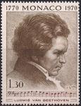 Монако 1970 год. 200 лет со дня рождения Людвига ван Бетховена. 1 марка