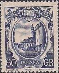 Польша 1955 год. Город Зелёна-Гура (ном. 60). 1 марка из серии