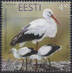Эстония 2004 год. Птица года. Белый аист. 1 марка (н