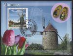 Гвинея-Биссау 2008 год. Голландская культура. Мельница, тюльпаны, национальная обувь. 1 гашёный блок