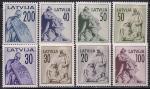 Латвия 1991 год. Памятники Риги. 8 марок из серии