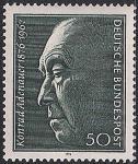ФРГ 1976 год. 100 лет со дня рождения К. Аденауэра - первого Бундесканцлера. 1 марка