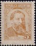 Аргентина 1956 год. 130 лет со дня смерти поэта Хосе Эрнандеса. 1 марка