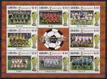 Либерия 2002 год. ЧМ по футболу в Южной Корее. Малый лист