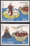 Исландия 1994 год. Европа. Открытия. 2 марки