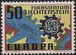 Лихтенштейн 1967 год. Европа СЕПТ. Эмблема. 1 марка