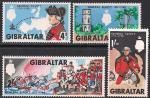 Гибралтар 1967 год. 250 лет со дня рождения генерала Джорджа Эллиотта. 4 марки