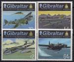 Гибралтар 2015 год. Военные самолеты. 4 марки