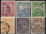 РСФСР 1921 год. Стандарт. 6 гашеных марок