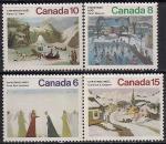 Канада 1974 год. Рождественские картины. 4 марки