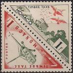 Монако 1953 год. Средства сообщения. Вертолёт. 2 марки