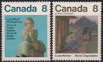 Канада 1975 год. Канадские писатели. 2 марки