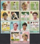 Тувалу 1985 год. Игроки в крикет. 14 марок