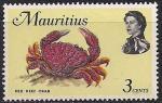 Маврикий 1969 год. Красный рифовый краб (ном. 3). 1 марка из серии